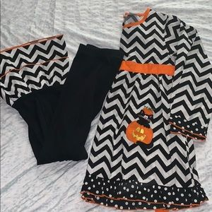 Girls pumpkin tunic and pants